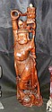 A carved oriental figure of dancing lady -