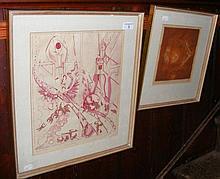 CASTRO SOROMENHO - 35cm x 29cm - ink and wash