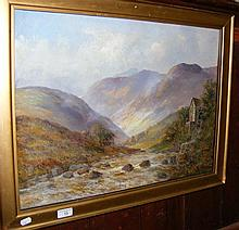 JAMIESON - an oil on canvas of Highland scene