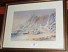 A 19th century watercolour of Ventnor shoreline