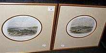 A pair of antique engravings of Yarmouth and