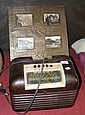 A Bakelite cased Bush valve radio and a montage of