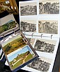 An album of about 70 postcards of Carisbrooke