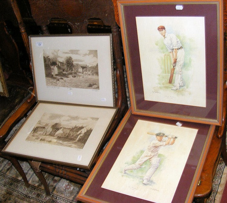 ANN LE BAS - pair of Limited Edition etchings,