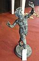 A classical Roman style metal figure - 70cm