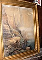 A 19th century watercolour of Speeton Cliffs,