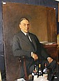 SIR OSWALD BIRLEY - large oil on canvas of Sir