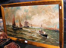 BERNARD BENEDICT HEMY - 44cm x 80cm - oil on