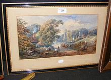 WILLIAM GRAY - 19cm x 37cm - watercolour - St