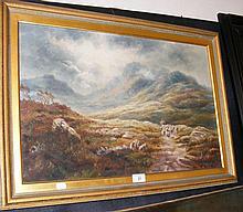 A TURNER - 40cm x 60cm - oil on canvas - Highland