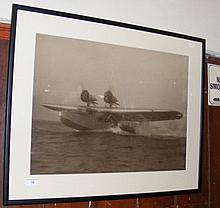 A 41cm x 57cm monochrome photograph of an early