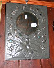 A Liberty style Art Nouveau pewter hanging wall
