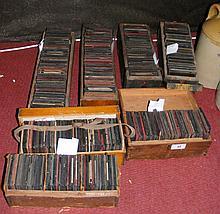 Large quantity of assorted magic lantern slides