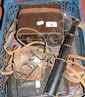 Various old cameras, telescope etc.