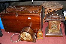 Three clocks, a blanket box and an occasional