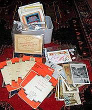 Various ephemera, including signatures of Spice