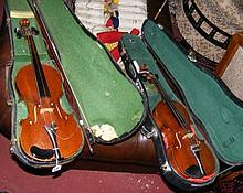 A French Medio Fino child's violin - the back