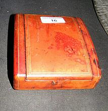 A Liberty leatherbound cigarette case with stamp