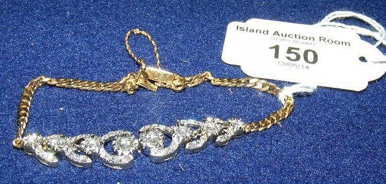 Good quality decorative diamond bracelet in gold