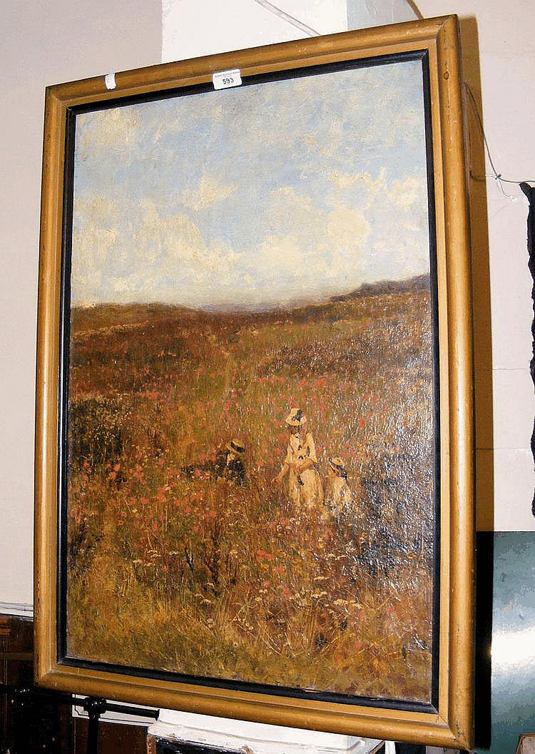 JOHN BUXTON KNIGHT? - an impressionist oil on