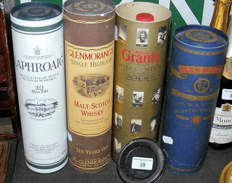A bottle of Ten Year Old Glenmorangie Malt Scotch