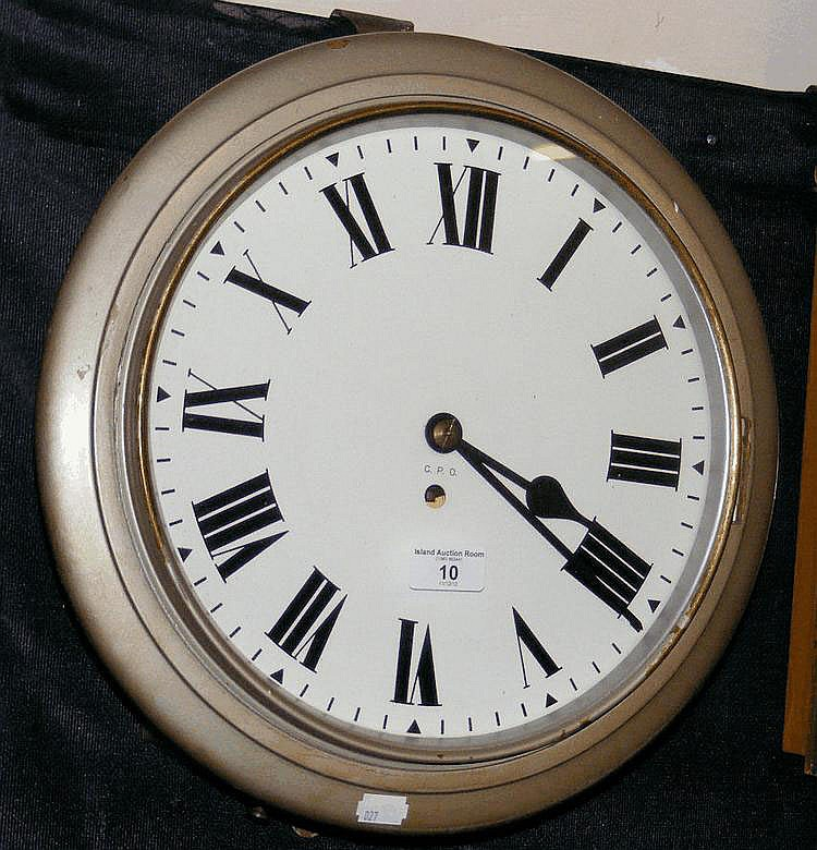 An antique General Post Office wall clock with