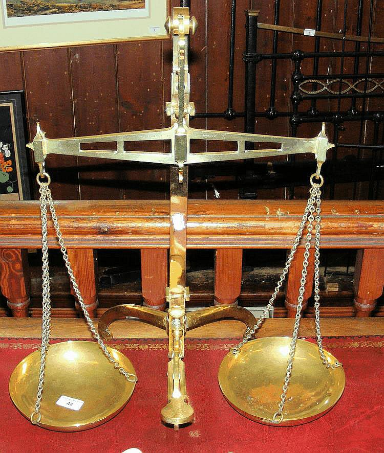 A set of Degrave & Co. balance scales
