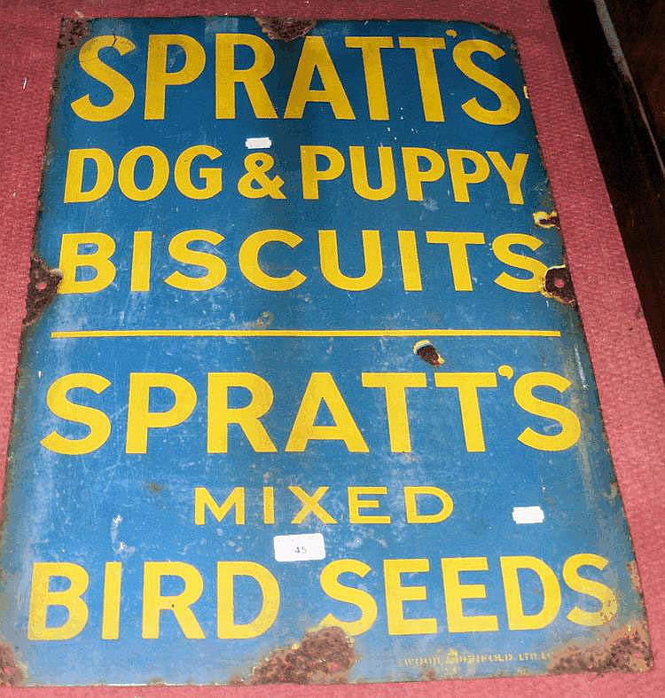 An old enamel sign for