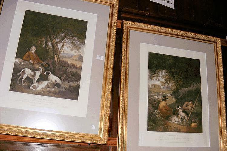 A pair of GEORGE MORLAND engravings -