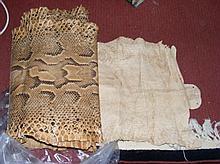 Roll of old snakeskin