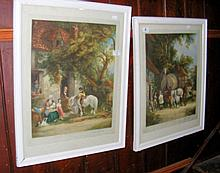 A pair of old Artist's proof prints - cottage and