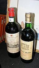Vintage bottle of 1964 Grand Cru, together with a