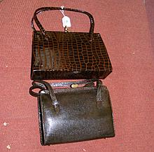 A lady's vintage French handbag and one other