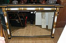 Regency style overmantel mirror - 122cm
