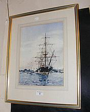 WALTER SHAW - 33cm x 25cm - watercolour HMS