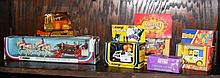 Six various boxed model vehicles, including Corgi