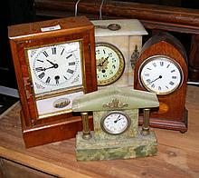 An American style mantel clock, together with
