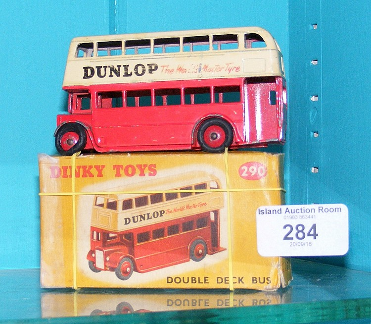 a boxed dinky toy double decker bus. Black Bedroom Furniture Sets. Home Design Ideas