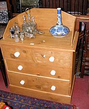 Antique pine washstand - 85cm
