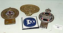 Old Royal Automobile Club Associate car badge and