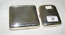 A silver tobacco case together with a silver