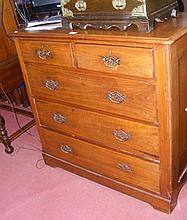 Antique chest of two short and three long