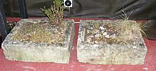 Pair of antique stone planters