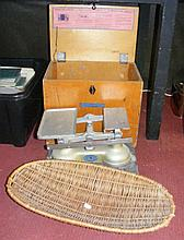 An unusual Guardian Baby Scales in carrying case