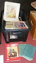 Various reference books, including