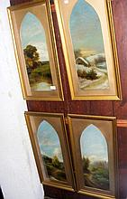 MANN - a set of four 19th century paintings