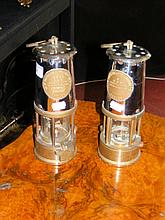 Two mining safety lamps by Eccles