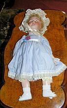 A Simon and Halbig antique bisque head doll with