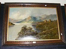 FRANCIS JAMIESON - oil on canvas - Highland castle