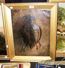 19th century oil on canvas - still life of dead